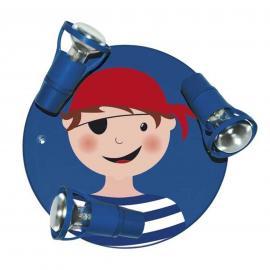 Plafonnier bleu PIRAT - 3 lampes