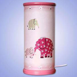 Lampe à poser LED ELEPHANT magique rose