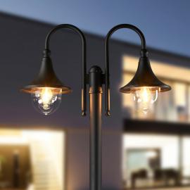 Lampadaire à 2 lampes Lilou en aluminium