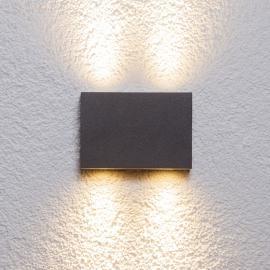 Applique d'extérieur carrée Henor à 4 LED