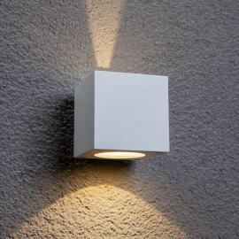 Applique d'extérieur LED Jarno blanche cubique