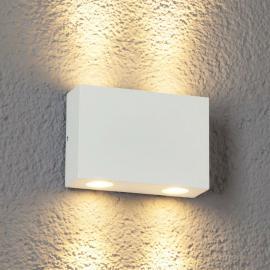 Applique d'extérieur LED Henor à 4 lampes blanc