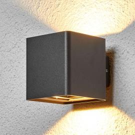 Applique d'extérieur LED Aaron gris graphite