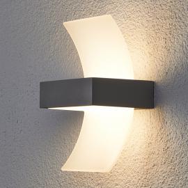 Applique d'extérieur LED Skadi courbée