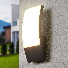 Applique d'extérieur LED courbe Siara, gris foncé