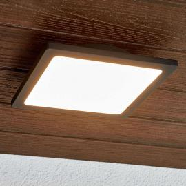 Plafonnier d'extérieur LED Mabella en gris foncé
