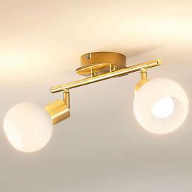 Plafonnier Elaina à LED E14, laiton