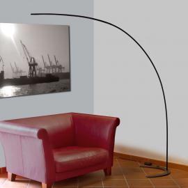 Lampadaire arqué LED Danua noir