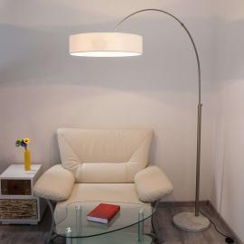 Lampadaire en tissu blanc Shing