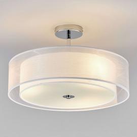 Plafonnier LED Pikka avec abat-jour blanc