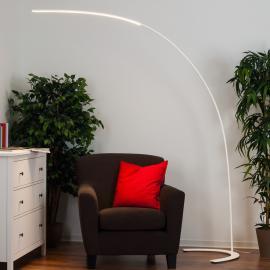 Lampadaire LED minimaliste Danua en blanc