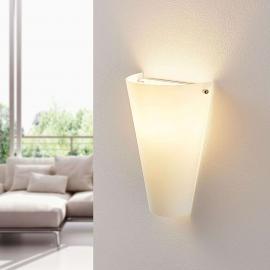 Applique en verre opale Alia avec LED E14