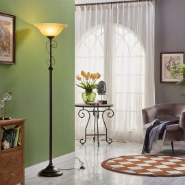 Lampadaire Svera style champêtre, aspect rouille