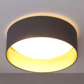 Plafonnier LED gris Coleen doré à l'intérieur
