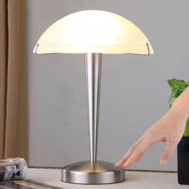 Jolie lampe à poser Viola, nickel mat