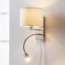 Florens - applique textile avec liseuse LED