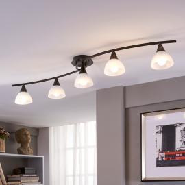 Plafonnier LED à cinq lampes Della, allongée