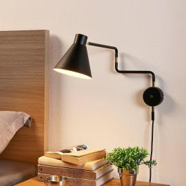 Applique LED en saillie Pria, noire