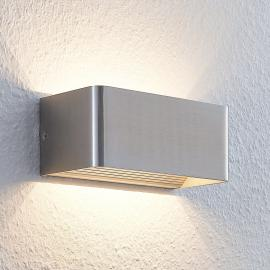 Élégante applique LED Lonisa, nickel satiné