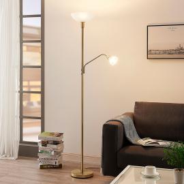 Lampadaire LED Jost , lampe de lecture, laiton mat
