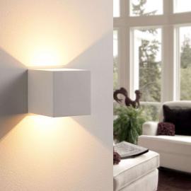 Applique LED Kay en forme de dé plâtre