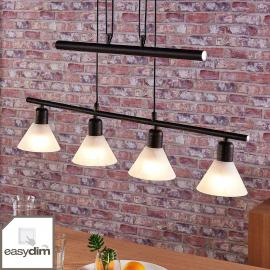Suspension LED à 4 lampes Eleasa, easydim