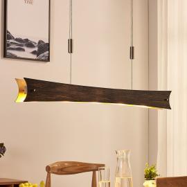Suspension LED dimmable Ebba, noir doré