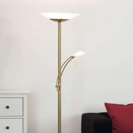 Lampadaire LED laiton ancien Ilinca, dimmable
