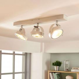 Plafonnier LED moderne Lieven en blanc