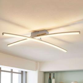 Laurenzia - Plafonnier LED chromé, dimmable