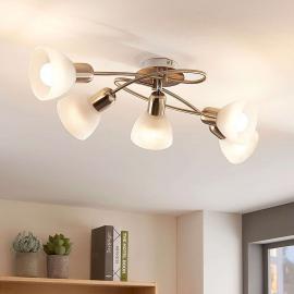 Plafonnier LED Paulina à cinq lampes, séjour
