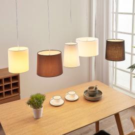 Suspension textile Hermina, 5 lampes