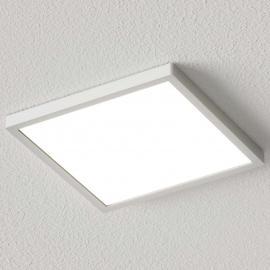 Plafonnier LED Solvie carré, argenté