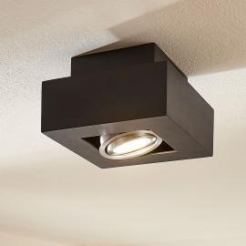 Plafonnier LED Vince noir, insert ajustable