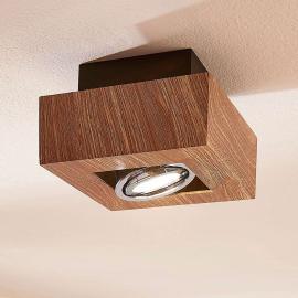 Plafonnier Vince LED GU10, couleur bois