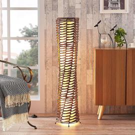 Lampadaire décoratif de séjour Joas, brun