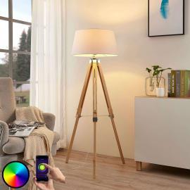 Lampadaire LED Alessa trépied, RVB et application