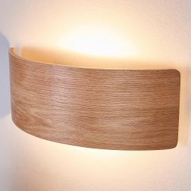 Applique murale bois séduisante Rafailia à LED