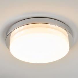 Plafonnier LED chromé brillant Cordula, IP44