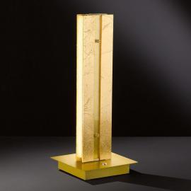 Lampe à poser LED dimmable Arlon avec décor doré