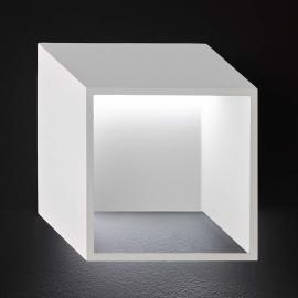 Applique LED cubique Quebec en blanc moderne