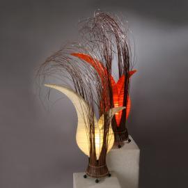 Lampe à poser florale Bunga orange