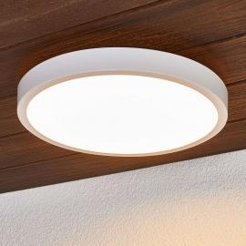 Plafonnier LED rond Liyan en blanc