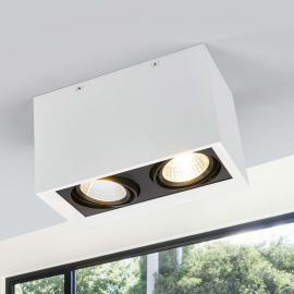 Plafonnier LED à 2 lampes Loreen blanc