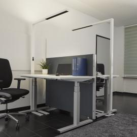Lampadaire Office LED blanc Jolinda, dimmable
