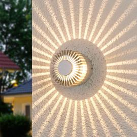Applique d'extérieur LED Lennias couleur aluminium