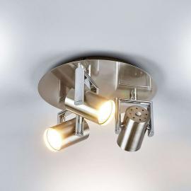 Plafonnier avec spots LED rond Luciana à 3lampes