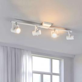 Plafonnier LED Sulamita blanc, 4 lampes
