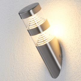 Applique d'extérieur LED Lanea inox forme oblique