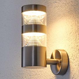 Applique d'extérieur LED Lanea en inox